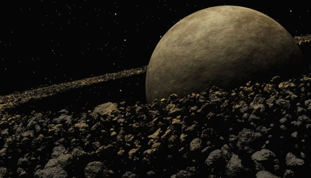 Asteroīdu Josta - ilustratīva bilde