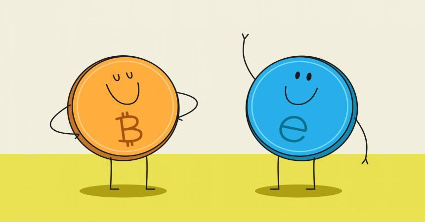Bitcoin pret Ethereum